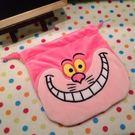 【發現。好貨】愛麗絲貓 柴郡貓 妙妙貓 說謊貓 毛絨束口袋 收納袋 化妝包 相機包 衛生棉包