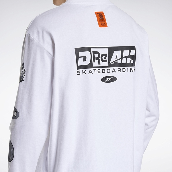 REEBOK X BLACK EYE PATCH 男裝 女裝 長袖 聯名 休閒 棉質 白【運動世界】GT4629