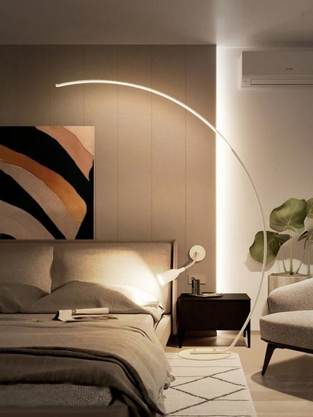 落地燈 北歐ins落地燈 客廳臥室書房釣魚地燈簡約現代床頭燈鋼琴立式臺燈 220VJD 新品來襲
