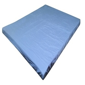 日系素色薄床墊套藍 加大