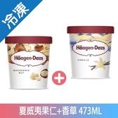 哈根達斯夏威夷果仁+香草冰淇淋473ML【愛買冷凍】