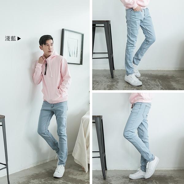 【OBIYAN】 牛仔褲 超彈力 素面 丹寧長褲 窄版 休閒褲 共3色【JN3207】