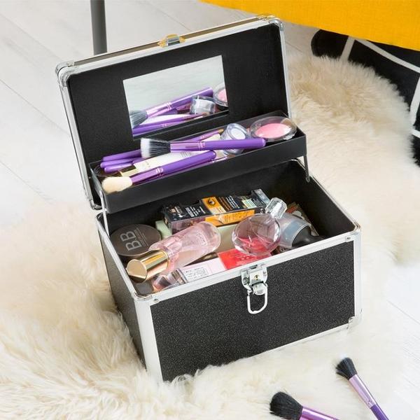 化妝箱 NiceLand納詩蓮專業水乳護膚品化妝品收納包手提美甲半永久工具箱