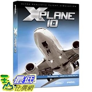[美國直購] Graphsim Mac版 美國暢銷軟體 X-Plane 10 Regional: North America - Mac