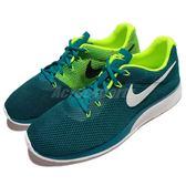 Nike 休閒鞋 Tanjun Racer 綠 黃 白底 百搭 舒適泡棉鞋底 運動鞋 男鞋【PUMP306】 921669-400
