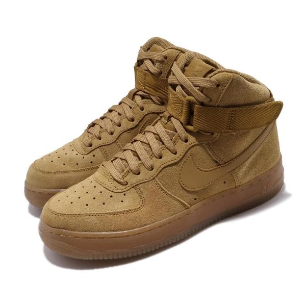 Nike 休閒鞋 Air Force 1 High LV8 3 GS 咖啡 駝色 女鞋 大童鞋 高筒 運動鞋 【ACS】 CK0262-700