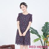 RED HOUSE 蕾赫斯-小花雪紡洋裝(藍色)