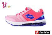 LOTTO樂得 義大利 大童 女款 SWIFT RUN 氣墊跑鞋 網布運動鞋 慢跑鞋 M8611#粉紅◆OSOME奧森童鞋