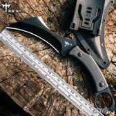 戶外小刀刀具防身用品荒野求生高硬度軍刀野外爪刀直刀 古梵希