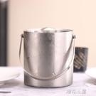 不銹鋼加厚提手冰粒桶 雙層保溫冰塊桶帶蓋紅酒桶酒吧啤酒桶『沸點奇跡』