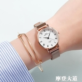 女士手錶簡約氣質ins風 細帶小巧精致大氣國產防水考試學生女錶QM『摩登大道』