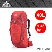 【速捷戶外】美國GREGORY 111590 ZULU 40 男款輕量網架式健行登山背包(火紅)  ,2019新款
