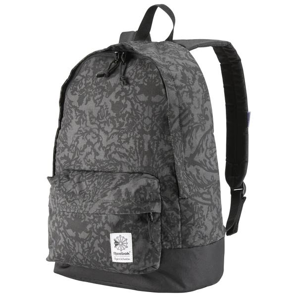 Reebok Graphic Backpack 背包 後背包 休閒 健身 水壺 花紋 灰 【運動世界】CD1391
