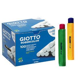 【義大利 GIOTTO】無灰粉筆(校園白色100入)+粉筆護套(2入,顏色隨機出貨)