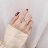 戒指 簡約裝飾食指戒指女時尚個性冷淡風韓版珍珠指環戒子 小天後
