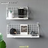 矽藻泥免打孔掛墻上置物架墻壁床頭隔板墻面裝飾宿舍神器收納架 [快速出貨]