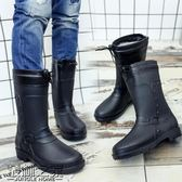 棉水鞋雨鞋男春秋水靴雨靴中筒男士