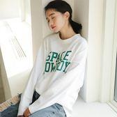 白色長袖t恤女棉麻學生時尚寬鬆秋冬