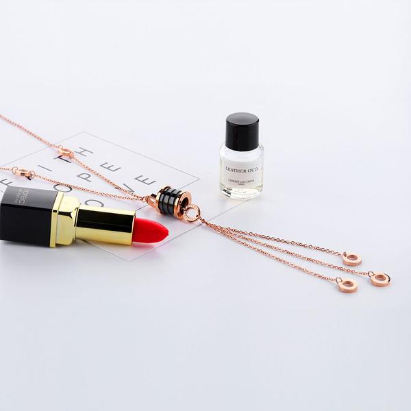 白鋼項鍊 鍍玫瑰金 流蘇長款項鍊 閨蜜禮物 單條價【AKS1302】Z.MO鈦鋼屋