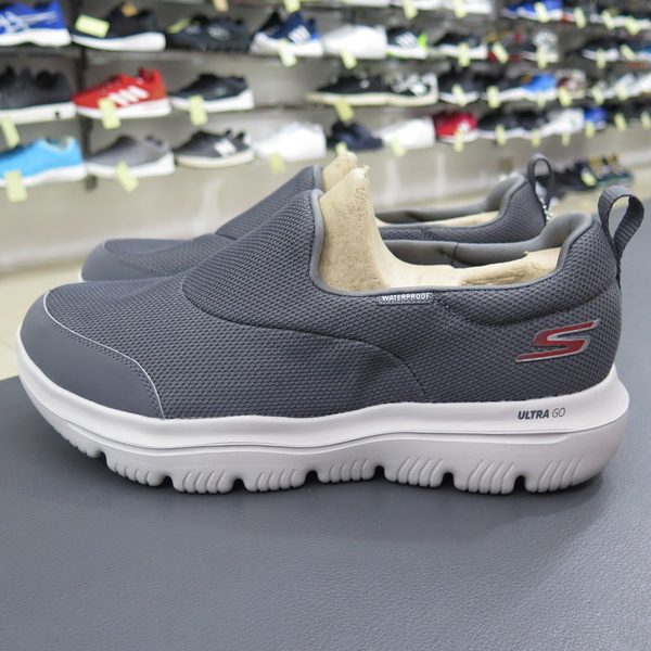 Skechers GO WALK EVOLUTION 健走鞋 54755CHAR 灰 男瑜珈鞋墊【iSport愛運動】