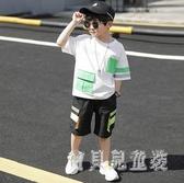 男童夏裝套裝2020新款兒童休閒兩件套中大童男孩帥氣韓版洋氣潮 yu12628『寶貝兒童裝』