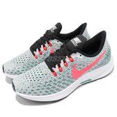 Nike 慢跑鞋 Wmns Air Zoom Pegasus 35 灰 粉色 透氣工程網面 氣墊避震 女鞋【PUMP306】 942855-009