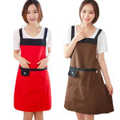 圍裙 韓版時尚可愛圍裙成人女廚房做飯防水罩衣長袖大人工作服【免運 快速出貨】