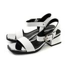 HUMAN PEACE 涼鞋 白色 粗跟 女鞋 9020-01 no067