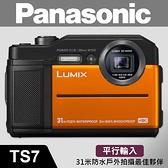 【平行輸入】Panasonic LUMIX DC-TS7 五重防護 防水/防摔/防凍/耐重/防塵 黑色 TS7 W22