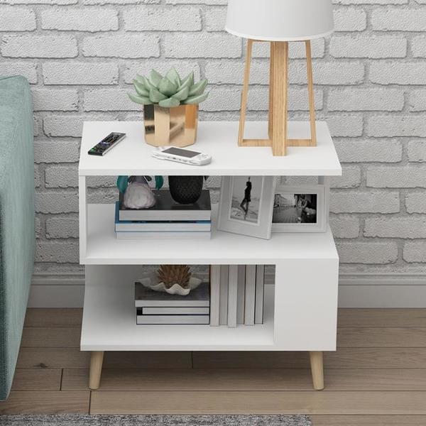 床頭櫃簡約現代床頭收納櫃實木腿迷你小戶型經濟型北歐床邊小櫃子 【618特惠】