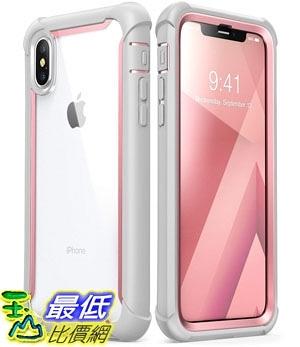 手機保護殼 iPhone Xs Case, iPhone X Case, i-Blason [Ares] Full-Body Rugged Clear Bumper Built-in