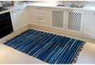 時尚編織創意地毯 廚房浴室衛生間臥室床邊門廳 吸水長條防滑地毯 (70cm×180cm)