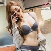 【Yurubra】極線密語內衣。A.B.C罩 無痕 包副乳 防外擴 機能 托高 台灣製。※0613紫灰