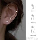 耳環 耳圈女簡約冷淡風耳骨環小巧耳釘氣質高級感純銀耳環2021年新款潮 【99免運】