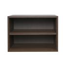 空櫃 二層收納空層櫃-層板可抽 淺胡桃木色