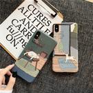 日繫插畫懶貓浮雕蘋果XR手機殼iPhone7/8plus矽膠11promax軟xs少女6s 店慶降價