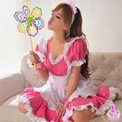 睡衣 性感睡衣 角色扮演 星光密碼【H035】櫻桃紅五件式甜美女僕性感角色扮演COSPLAY
