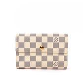 【NG商品】【LV】白棋盤格 三折 13卡 中夾 N63068