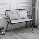 現代簡約組裝實木家用靠背餐椅電腦椅餐廳鐵藝沙發椅休閒椅子