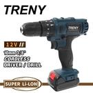 [ 家事達 ] TRENY- 2284 鋰電雙速震動起子機-12V 電鑽 起子機 維修工具 修繕 家庭DIY 居家必備 特價