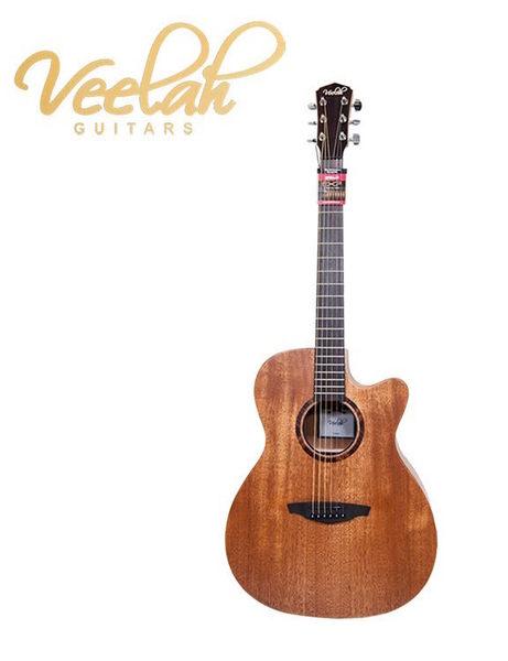 【金聲樂器】VEELAH V1OMMC/V1-OMMC 桃花心木 面單板 民謠吉他 木吉他