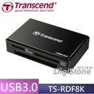 【免運費+贈SD記憶卡收納盒】創見TS-RDF8 TS-RDF8K USB3.0 F8 多功能讀卡機-黑色X1◆支援CF(最大128GB)◆