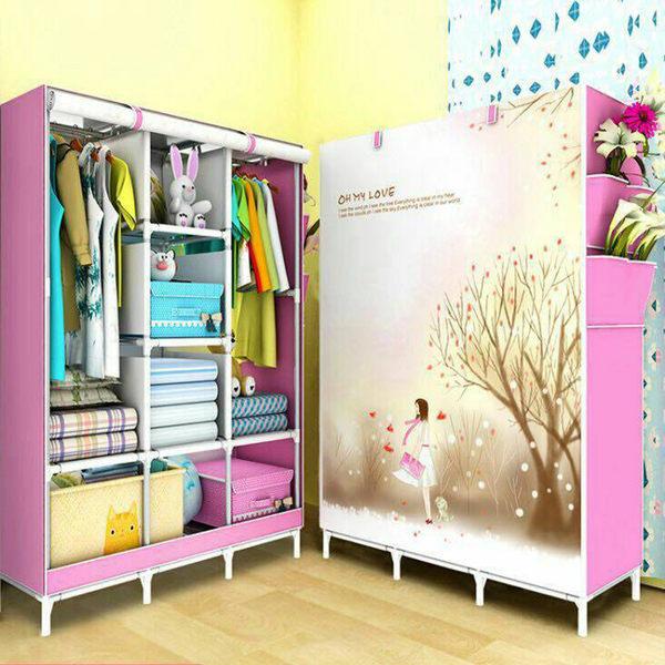 3D 防塵衣櫥 6色 衣櫃 【創意巴巴】 DIY 捲簾式 組合衣櫃 三排 8格 衣物收納  鞋櫃 收納櫃 置物架