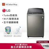 LG樂金 17公斤 直立式 變頻洗衣機 WT-D179VG 不鏽鋼銀