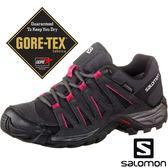 【SALOMON 法國】女 TASMAN 2 GORE-TEX低筒登山健行鞋『瀝青灰/黑/桃紅』381399 越野鞋.登山鞋.健行鞋