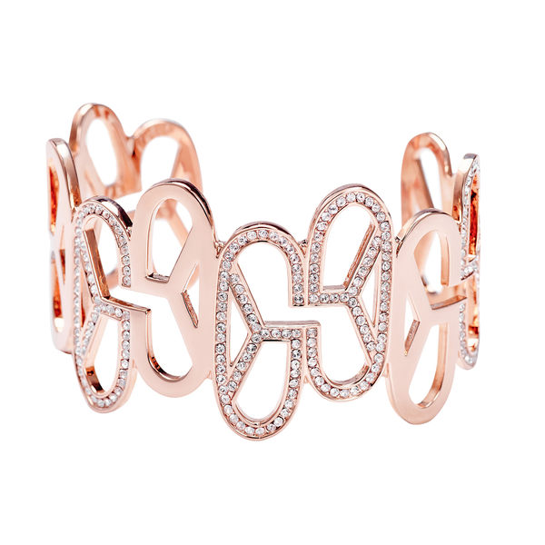 手鍊 手環 個性 時尚 百搭 經典 Bangle 銅鍍14K玫瑰金 施華洛世奇水鑽