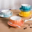 咖啡杯 陶瓷咖啡杯歐式小奢華優雅家用高檔英式下午茶杯單個帶碟杯子套裝【快速出貨八折下殺】