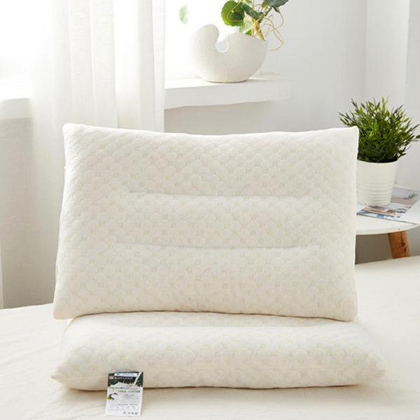 泰國天然乳膠枕頭禮盒 乳膠顆粒 枕芯按摩頸椎 記憶枕【庫奇小舖】