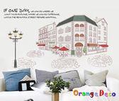 壁貼【橘果設計】城市風景 DIY組合壁貼 牆貼 壁紙 壁貼 室內設計 裝潢 壁貼