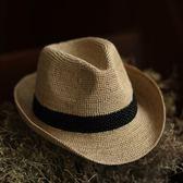 草帽-手工編織爵士帽韓版時尚有型個性女遮陽帽3色73si32[巴黎精品]